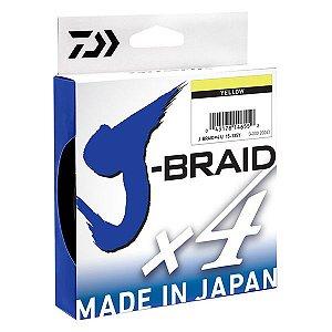 Linha Daiwa J-Braid X4 Amarela 270m - 20lb 0.21mm