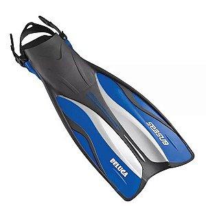 Nadadeira Ajustável SeaSub Beluga Azul - S/M Tam 36 até 40