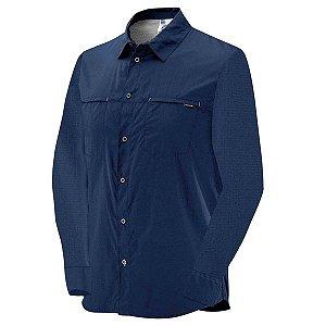 Camisa Salomon Stretch ML Masc Azul
