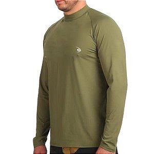 Camiseta Fishing co. UV50+ ML - Verde Militar