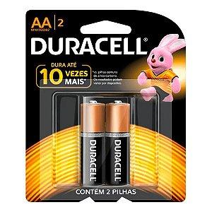 Pilha Duracell Alcalina Pequena AA 1.5v - 2pçs