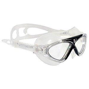 Óculos de Natação Cetus Uaru Pro Silicone - Transp/Preto