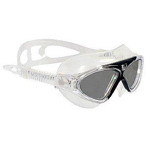 Óculos de Natação Cetus Uaru Silicone - Preto Espelhado