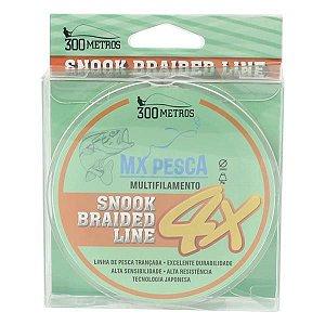 Linha MX Pesca Snook Braided Line 300m 0.04mm - Branco