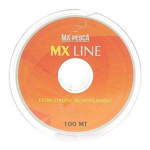 Linha MX Line 100m Vermelha - 0.45mm