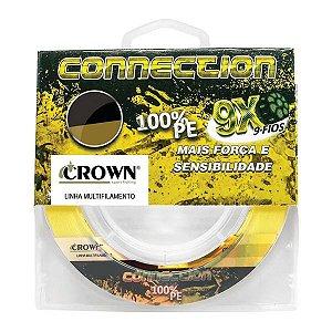 Linha Crown Connection 9X 300m Amarela - 0.35mm 70lb