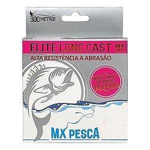Linha MX Pesca Elite Long Cast 300m 0.43mm - Rosa