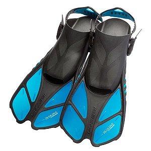 Nadadeira Ajustável Cressi Bonete cor Azul