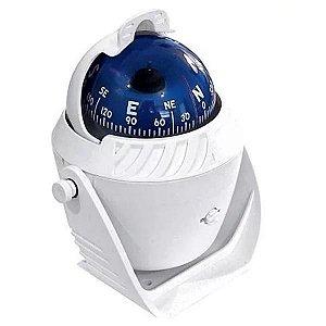 Bússola Náutica de Sobrepor com Iluminação 12V - Branca