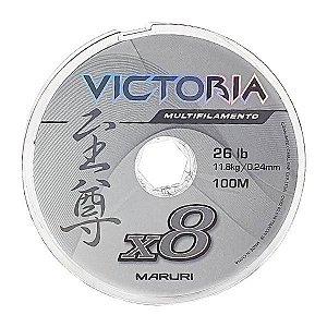 Linha Maruri Victoria 8X 100m Cinza - 0.24mm 26lb