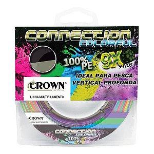Linha Crown Connection 9X 300m Colorful - 0.26mm 40lb