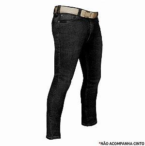 Calça Jeans Tática Masculina Recon Bélica - Preta