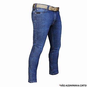 Calça Jeans Tática Masculina Recon Bélica - Azul