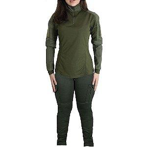 Farda Tática Feminina Militar Bélica - Verde