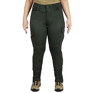 Calça Tática Militar Feminina Fem-tac Verde Bélica