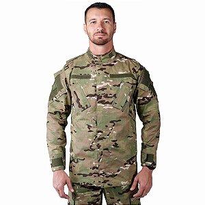 Farda Tática Bélica - Calça Combat e Gandola Camuflada Multicam