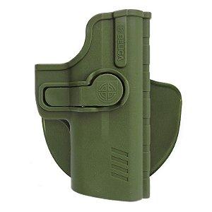 Coldre Pro SR1 em Polímero Bélica Destro - Verde