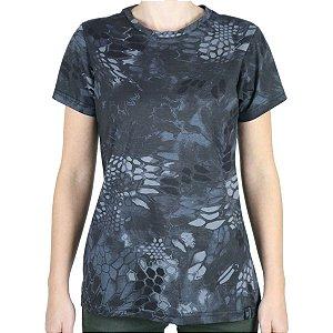 Camiseta Feminina Soldier Camuflada Typhon Bélica