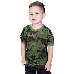 Camiseta Infantil Ranger Kids Camuflada Tropic Bélica