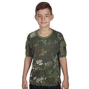 Camiseta Infantil Ranger Kids Camuflada Mandrake Bélica