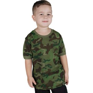 Camiseta Infantil Soldier Kids Camuflada Tropic Bélica