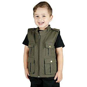 Colete Infantil Army Verde Treme Terra