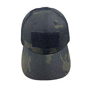 Boné com Tela Hunter Bélica - Camuflado Multicam Black
