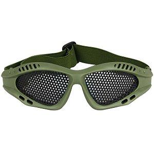 Óculos Tela Para Airsoft Bravo - Verde
