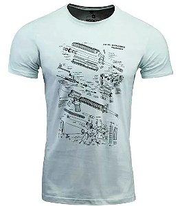 Camiseta Concept Ar15 Fuzil Branca - Invictus