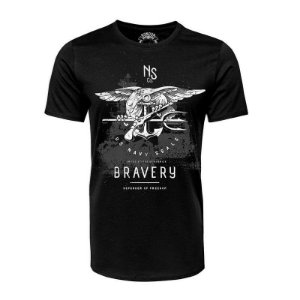 Camiseta Bravery US Navy Seals Preta - Black Flag