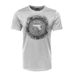 Camiseta Glock Action Safe Branca - Black Flag