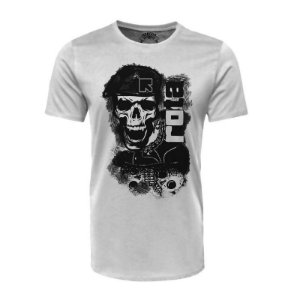 Camiseta Rota Branca - Black Flag