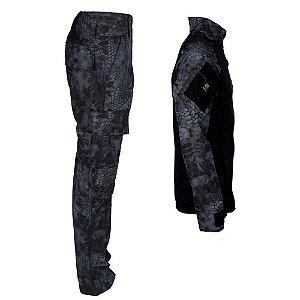 Farda Tática Bélica - Calça e Combat Shirt Camuflada Typhon
