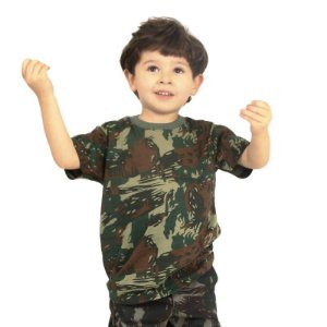 Camiseta Infantil Camuflada Elite Especial EB