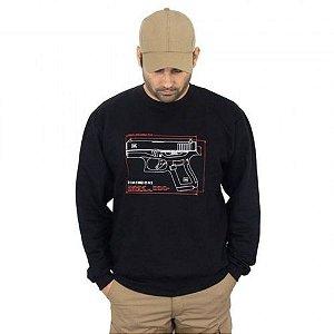 Blusa De Moletom Estampada Glock G43 Preta - Atack