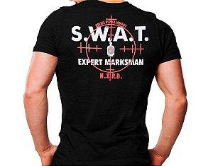Camiseta Militar Estampada S.W.A.T Expert Preta - Atack