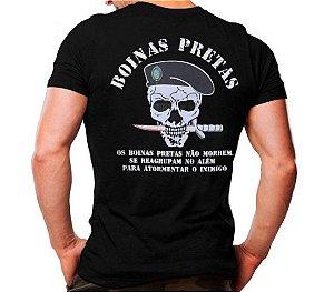 Camiseta Militar Estampada Boinas Pretas Preta - Atack