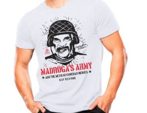 Camiseta Militar Estampada Madruga's Army Branca - Atack