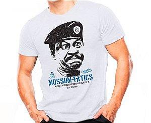 Camiseta Militar Estampada Mussum Tatics Branca - Atack