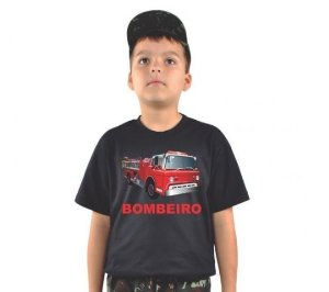 Camiseta Infantil Estampada Bombeiro