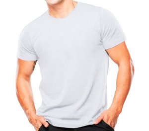Camiseta Militar De Algodão Lisa Branca - Atack