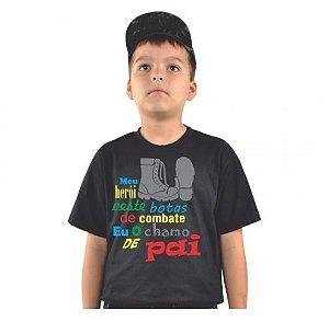 Camiseta Infantil Estampada Pai Herói