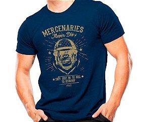 Camiseta Militar Estampada Mercenaries Azul - Atack
