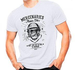 Camiseta Militar Estampada Mercenaries Branca - Atack