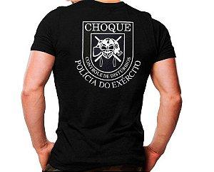 Camiseta Militar Estampada Choque PE Preta - Atack