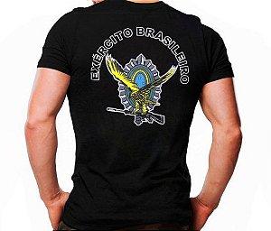 Camiseta Militar Estampada EB Brasão Águia Preta - Atack