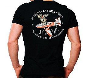 Camiseta Militar Estampada Ninho Das Águias Brasileiras Preta - Atack