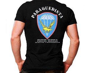 Camiseta Militar Estampada Paraquedista Preta - Atack