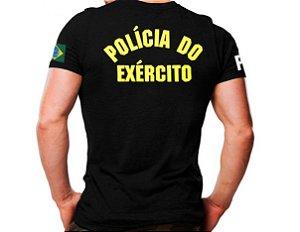 Camiseta Militar Estampada Polícia Do Exército Preta - Atack