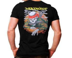 Camiseta Militar Estampada Mercenários Preta - Atack